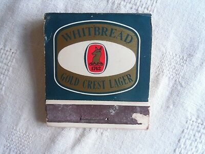 Whitbread Book Matches Advertising Gold Crest Lager.
