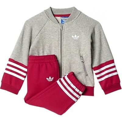 Adidas Originals Infant Girls Fleece Superstar Tracksuit Kids children Full Set