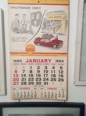1962  and.1963 Shell Oil Calendars