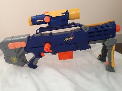 Nerf N - Strike Elite Longshot Cs - 6 Blaster Rare Blue/yellow 2006