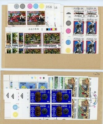 Trinidad and Tobago Used Plate Blocks of 4 1980 -1988, See 6 Scans!