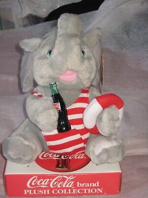 "BRAND NEW Coca-Cola Brand Plush Collection 8"" Elephant -  Vintage 1993"