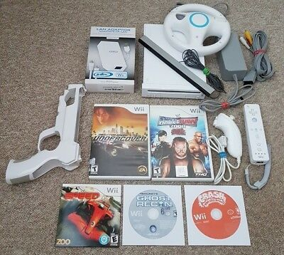 NINTENDO Wii GameCube Compatible Console + Controllers + Sensor + Games + EXTRAS