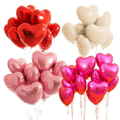 "5pcs 18"" Love Heart Foil Helium Balloons Wedding Party Birthday Decoration"