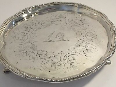 George lll c1781 Sterling Silver Salver london