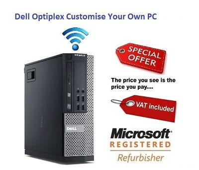 Dell Optiplex-ULTRA-Fast cheap Desktop-Core-i7-16GB 2TB 120GB SSD Windows 10 PC