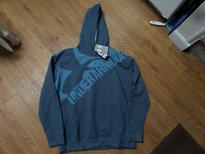 bnwt girls under armour  hoodie-threadborne-size yxl-loose fit-blue