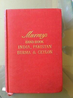 Murray's India,Pakistan,Burma & Ceylon Travel Guide Handbook'55 VG HC W/Maps