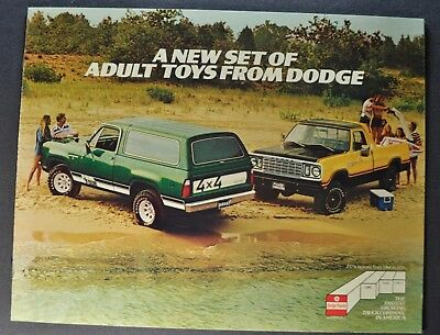 1978 Dodge Truck Brochure Warlock Pickup Street Van Ramcharger Excellent Orig 78