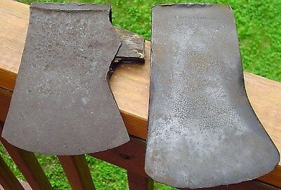 Lot of 2 Old AXE HEADS Washington Axe Company ANTIQUE Vintage