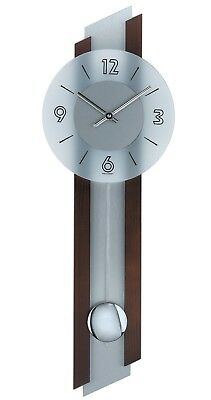 Modern wall clock with quartz movement from AMS AM W7207/1 NEW