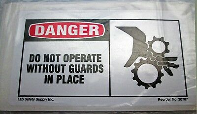 """10~Pack Osha Safety Hazard Sign """"Danger~ Do Not Operate Without Guards In Place"""""""