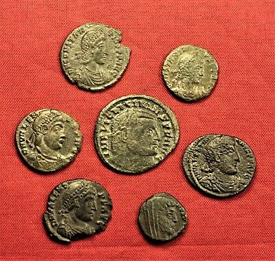 Lot of 7 Ancient Roman Bronze AE3 Coins and Follis