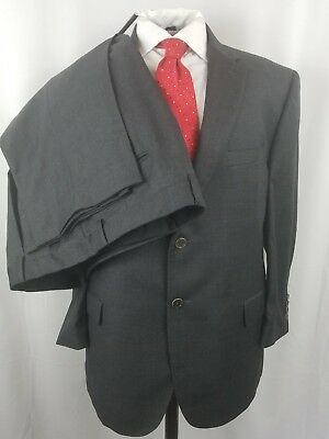 Jos a bank signature gold suit 46S 40w Charcoal Navy Check