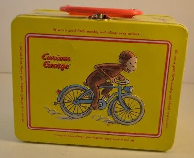 Curious George Yellow Tin Keepsake Lunch Box, Collectors Item, Curious Monkey