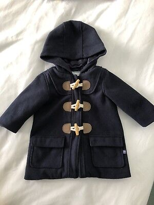 Jack and Milly Baby Boys Girls Navy Winter Coat -size 0 (generous) fully lined