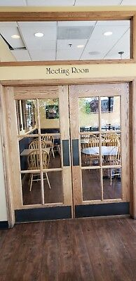 "oak french doors 6' 0"" x 6' 8"""