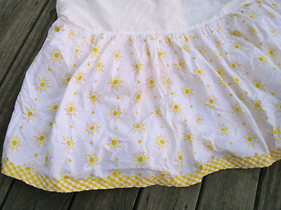 Belinda Barton Crib Skirt Yellow White Crib Skirt Gingham Trim Dust Ruffle Baby