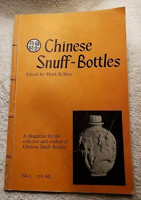 Chinese Snuff Bottles by Hugh M. Moss Vol. 1 12s 6d Magazine for collectors VG