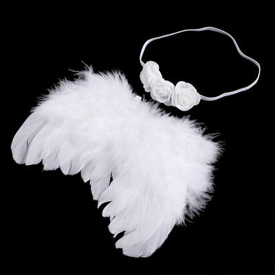 Baby newborn photo shoot costume angel wings photography post angel feather W7N7