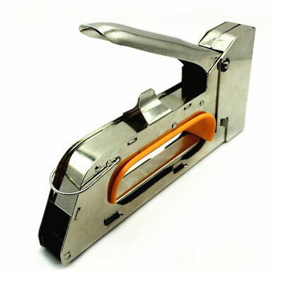 1008F Manual Nail Stapler U Nail Staple Gun for wood furniture household us G5E6
