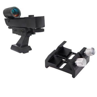 Black New Red Dot Finder Scope+ Finderscope Dovetail Slot for Optical Telescope
