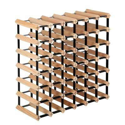 42 Bottle Wine Rack Holder Pine Wood Storage Organise Display Shelf Bar 7 Tier