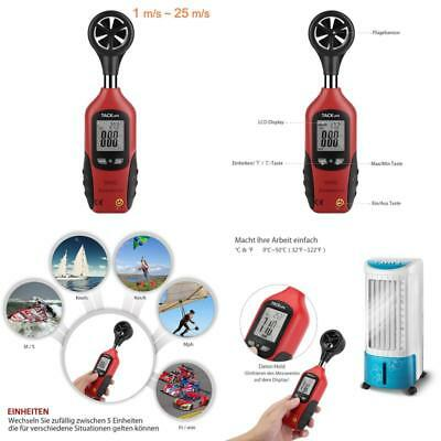 Tacklife Da02 Klassischer Anemometer Digital Windmesser 196-4900 Ft/Minmit Mini