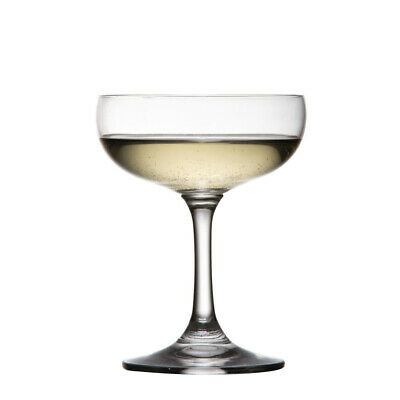 6x Champagne Saucer 220ml Olympia Coupe Glass Bar Pisco Sour Manhattan Cosmo NEW