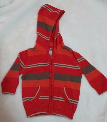Sprout knitted hoodie zipper cardigan baby boy size 00