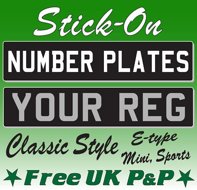Classic Number Plate Stick On Self Adhesive Classic Show Car Sticker