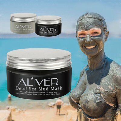 Dead Sea Mud Mask Facial Cleanser Anti-Acne Moisturizing Smoothing Cleaning O5~