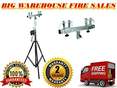 DJ Pro Lighting 10 Foot Crank Light Stand & Square Truss T-Bar Adapter
