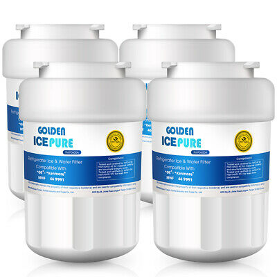 Fits GE MWF SmartWater MWFP GWF Comparable Refrigerator Water Filter 4 Pack