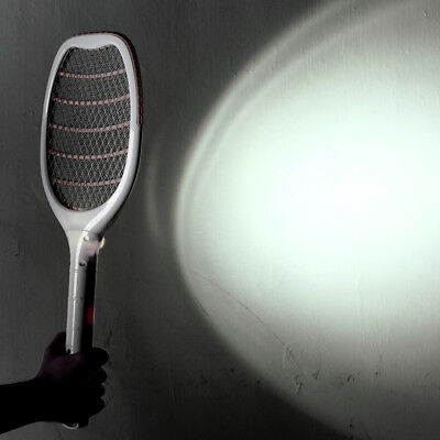 Electric USB LED Mosquito Fly Swatter Zapper Killer Pest Insect Wasp Racket NEW.