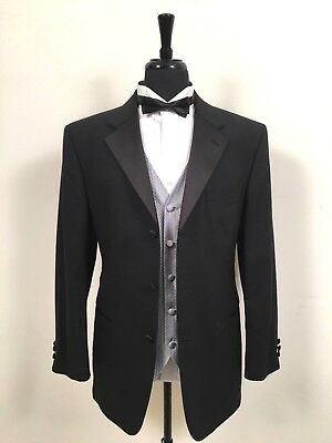 Geoffrey Beene Tuxedo Dinner Evening Men's Formal Jacket w/ Waist Coat Vest 40 R