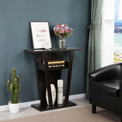 Console Table Accent Sofa Side End Stand Entry Way Hallway Modern Display Shelf