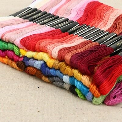 150 Multi Colors Cross Stitch Cotton Sewing Skeins Embroidery Thread Floss Us