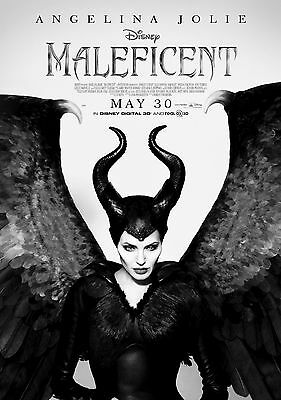 Maleficent Angelina Jolie Large Poster Art Print Black & White Card or Canvas