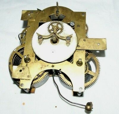 Antique ANSONIA (U.S.A)  Clock Movement With Visible Escapement, Spares/Repair
