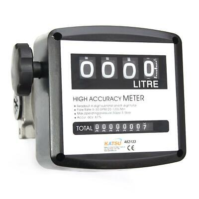 482133 4 digital Diesel Fuel Oil Flow Meter Counter 3.5 bar High Accuracy 1%