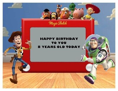 A4 Personalised Toy Story Edible Fondant / Wafer Cake Topper