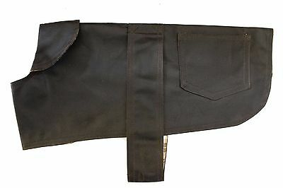 Premium British Wax Dog Coat - Country Brown/Green Waterproof Gundog Jacket