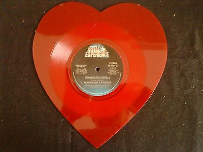 """Yarbrought and Peoples  Shape Vinyl LP  Damals """"Just for DJ's""""  in Herz Form"""