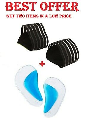 Soft Silicone Gel Arch Support Insole & Cushion Pain Heel Spur Straps PEDIMEND™