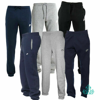 New Mens NIKE Tracksuit Bottoms Joggers Fleece Pants Grey Dark Grey Navy Black
