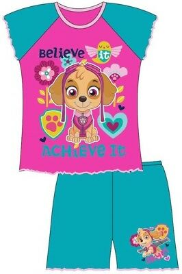 Girls Skye Official Genuine Paw Patrol Short Pyjamas Age 18 Months 2 3 4 5 Years