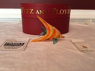 Fitz and Floyd Glass Menagerie Orange Angel Fish with box