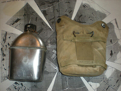 WW2 1942 M41 Reinforced AIRBORNE PARATROOP CANTEEN COVER w/1944 CANTEEN INITIALS