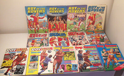 Roy of the Rovers Annual Bundle x13 Books | Yearbook, 70s, 80s, 90s Vintage UK